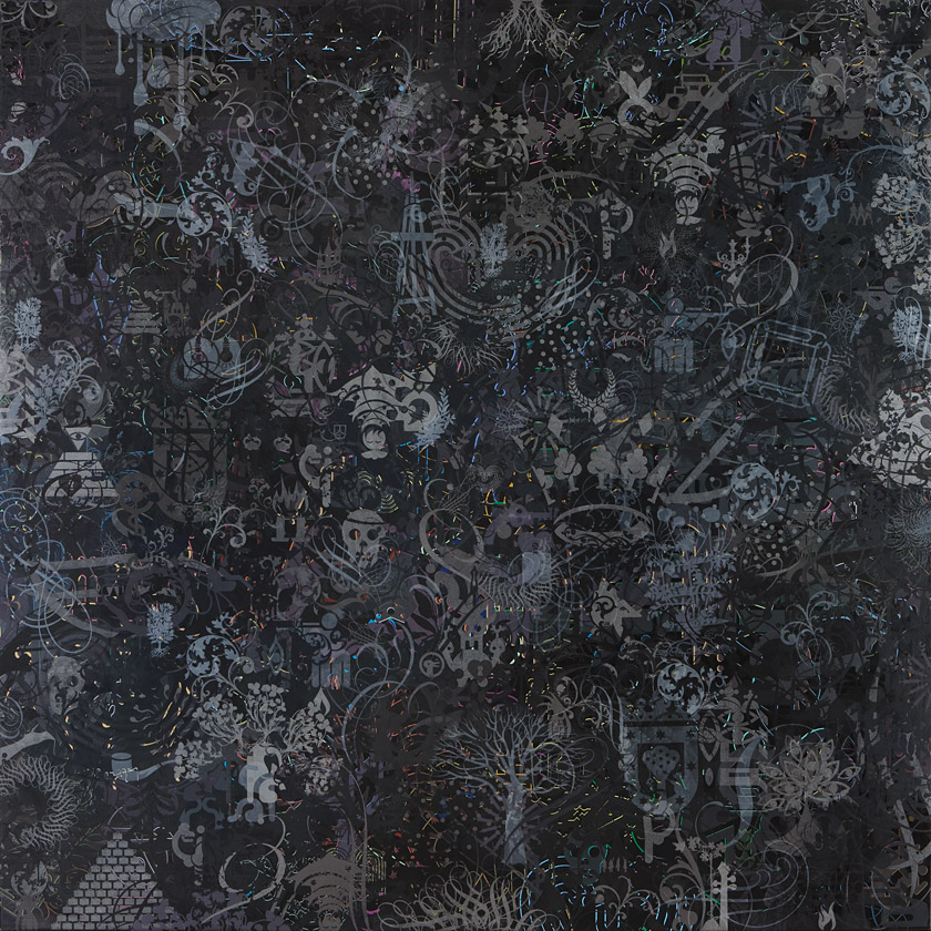 Ryan McGinness, Faith, 2008. Acrylic on canvas, 96 x 96 inches