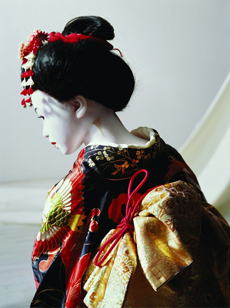 Laurie Simmons, The Love Doll/Day 31 (Geisha Close-up), 2010. Fuji Matte print, 40 x 30 inches