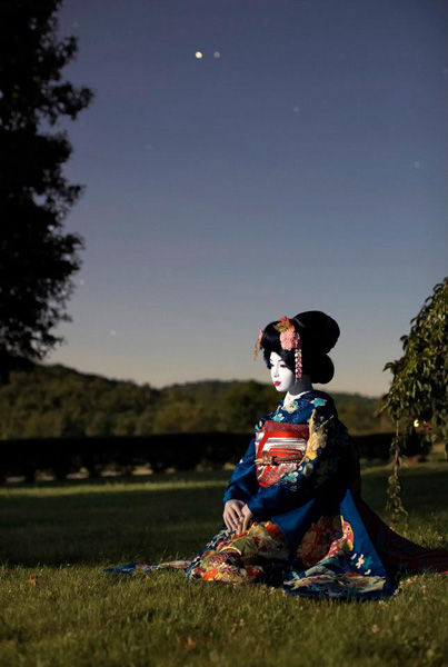 Laurie Simmons, The Love Doll/Day 33 (Geisha Moonlight), 2011. Fuji Matte print, 70 x 47 inches