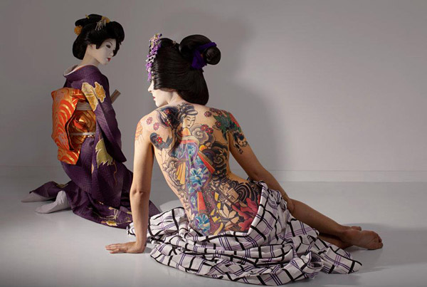 Laurie Simmons, The Love Doll/Day 36 (Geisha Tattoo), 2011. Fuji Matte print, 47 x 70 inches