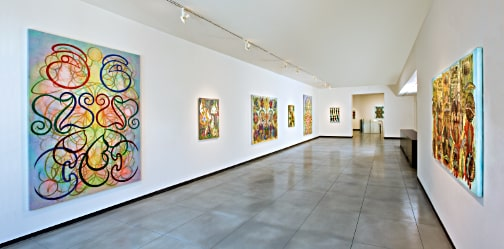 Philip Taaffe: Recent Paintings and Drawings, installation view, February, 2012