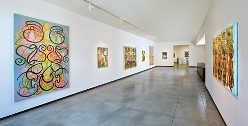 Philip Taaffe: Recent Paintings and Drawings, installation view