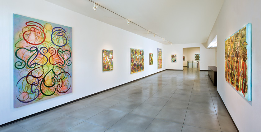 Philip Taaffe, installation view, Baldwin Gallery, 2012