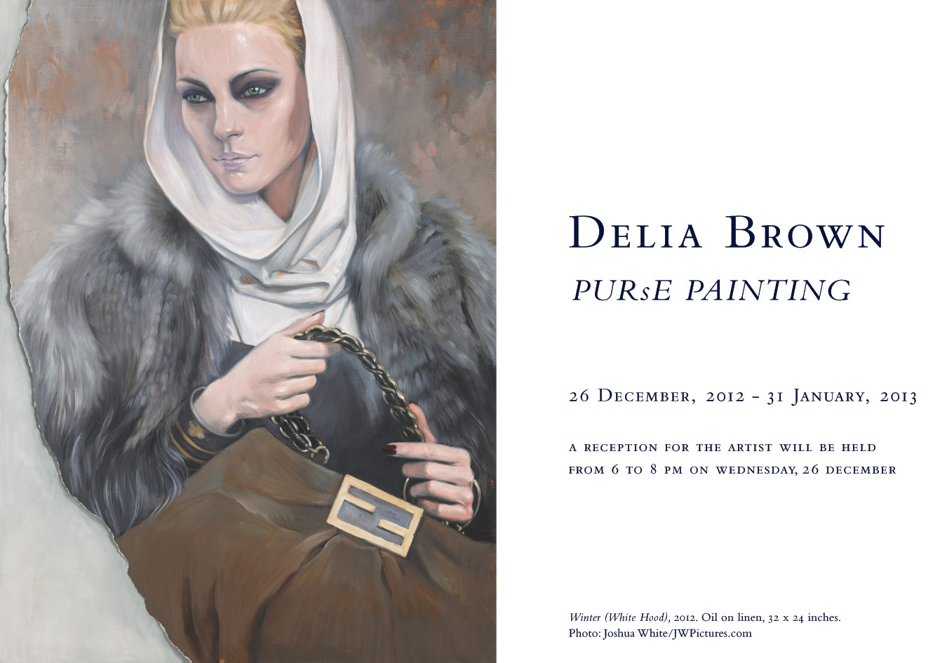 Delia Brown, PURsE PAINTING, at the Baldwin Gallery, Aspen, December 26, 2012 – January 31, 2013