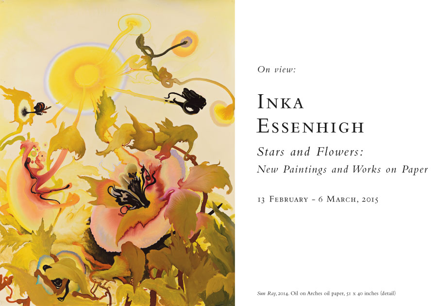 Inka Essenhigh: Stars and Flowers, New Paintings and Works on Paper, 13 February - 6 March, 2015, at Baldwin Gallery, Aspen
