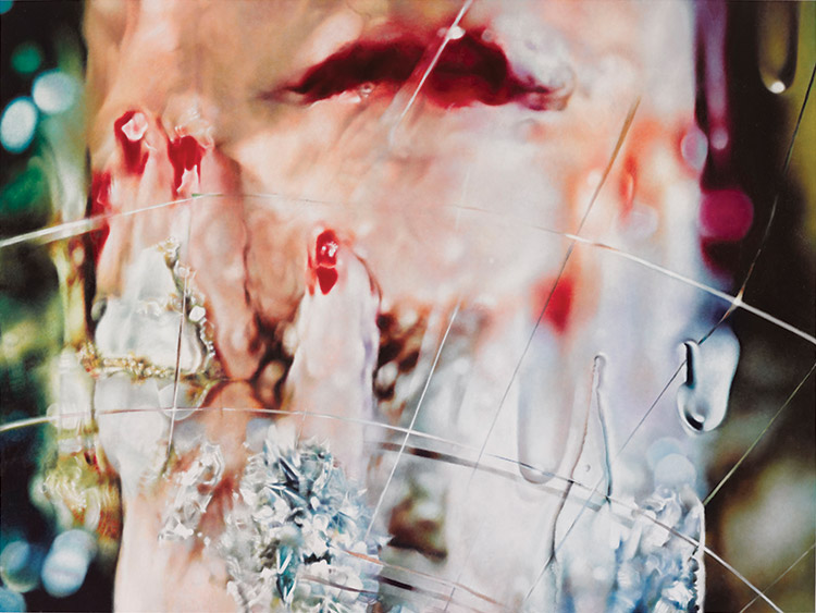 Marilyn Minter, Melt, 2014, enamel on metal, 54 x 64 inches