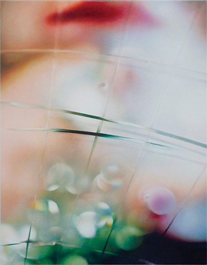 Marilyn Minter, Spectral, 2014, enamel on metal, 30 x 24 inches