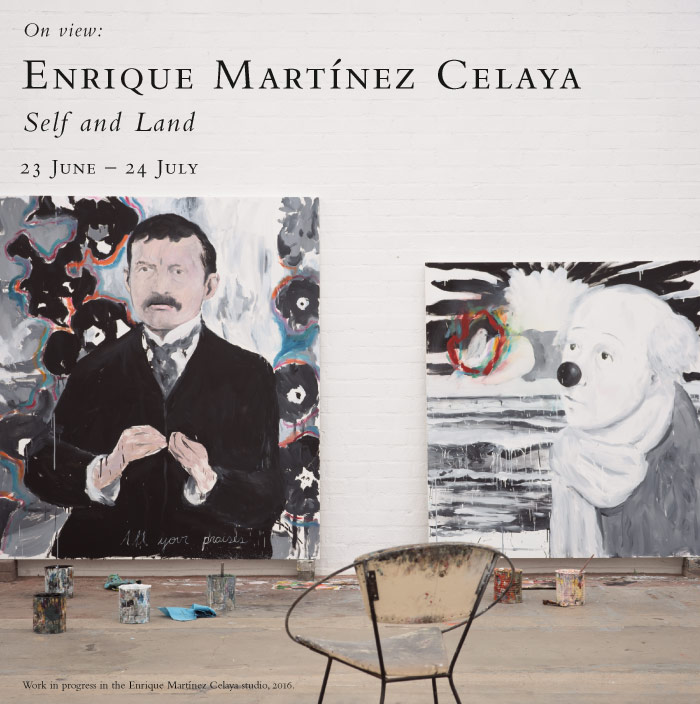 Enrique Martínez Celaya: Self and Land. On view at the Baldwin Gallery, 23 June - 24 July, 2016.