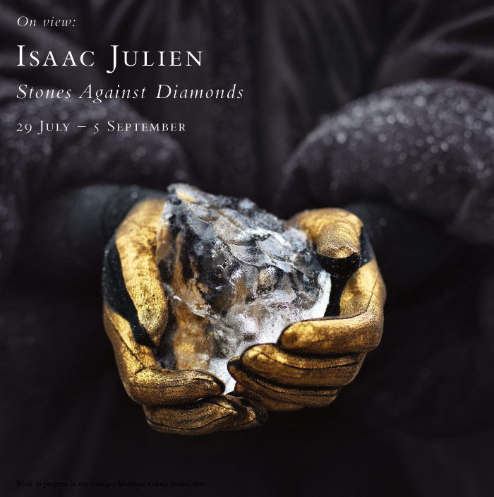 Isaac Julien: Stones Against Diamonds. On view at the Baldwin Gallery, 229 July - 5 September, 2016.