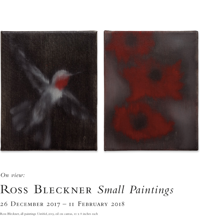 Ross Bleckner: Small paintings. On view at the Baldwin Gallery, 26 December, 2017 - 11 February, 2018.