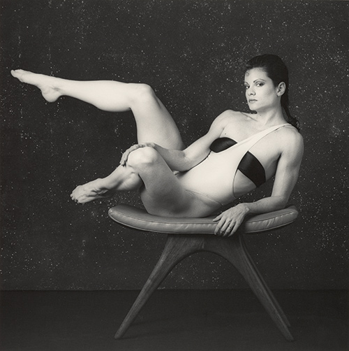 Robert Mapplethorpe, Lisa Lyon, 1984, silver gelatin photograph, 20 x 16 inches.