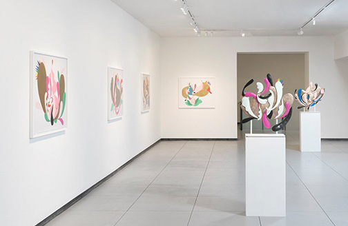 Nathan Carter: Primrose Posy and the Stimulators, installation view, March 2020